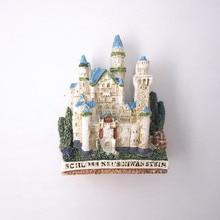 Germany New Swan Stone Castle Attractions Memorial Handmade Resin Fridge Magnet Schloss Neuschwanstein Magnetic Sticker Craft