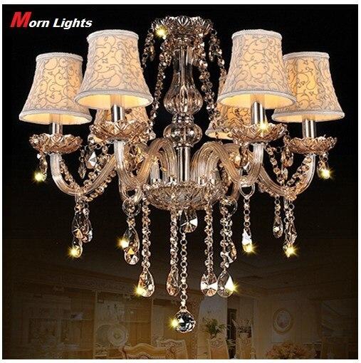 Chandelier Lights Modern K9 Crystal Pendant Lamp Shade Vintage Lighting Bed Room Dining Light