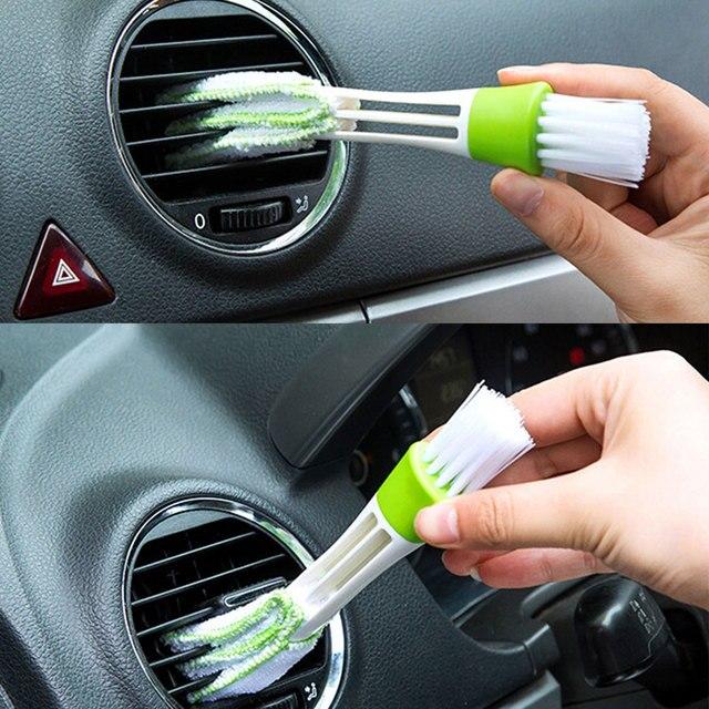 Brecha coche salida de aire de ventilación brocha para polvos herramienta de limpieza para suzuki swift opel mokka w210 opel zafira kia optima skoda superb 2 bmw x3