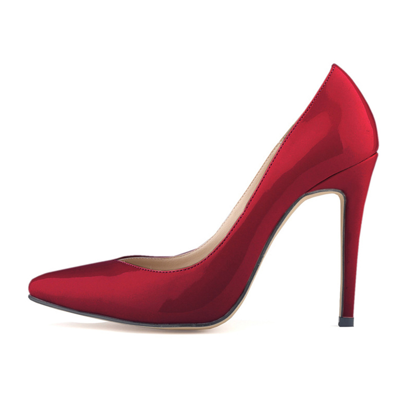 women shoes patent pu high heels pointed corset style work women pumps court shoes Red wine кулер deepcool uf120