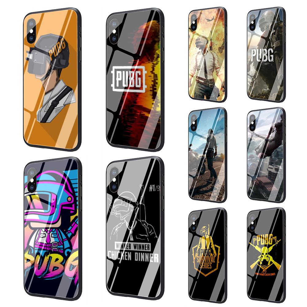 Us 374 25 Offpubg Wallpapers Tempered Glass Soft Tpu Black Phone Cover Case For Iphone 5 5s 6 6s 7 8 Plus X Xr Xs 11 Pro Max In Fitted Cases From