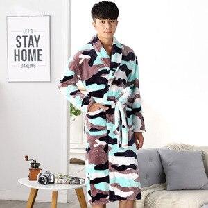 Image 3 - Winter Womens Mini Kimono Robe Fashion Autumn Lady Flannel Bath Gown Yukata Nightgown Sleepwear Sleepshirts One Size