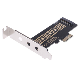 Image 5 - NVMe PCIe M.2 NGFF SSD vers PCIe x1 carte adaptateur PCIe x1 vers M.2 carte avec support