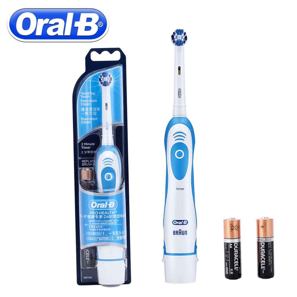 Oral B D4 Sonic Electric Toothbrush Precision Clean Battery Vitality Tooth Brush Heads Dental Care Pro Health Teeth Brush image