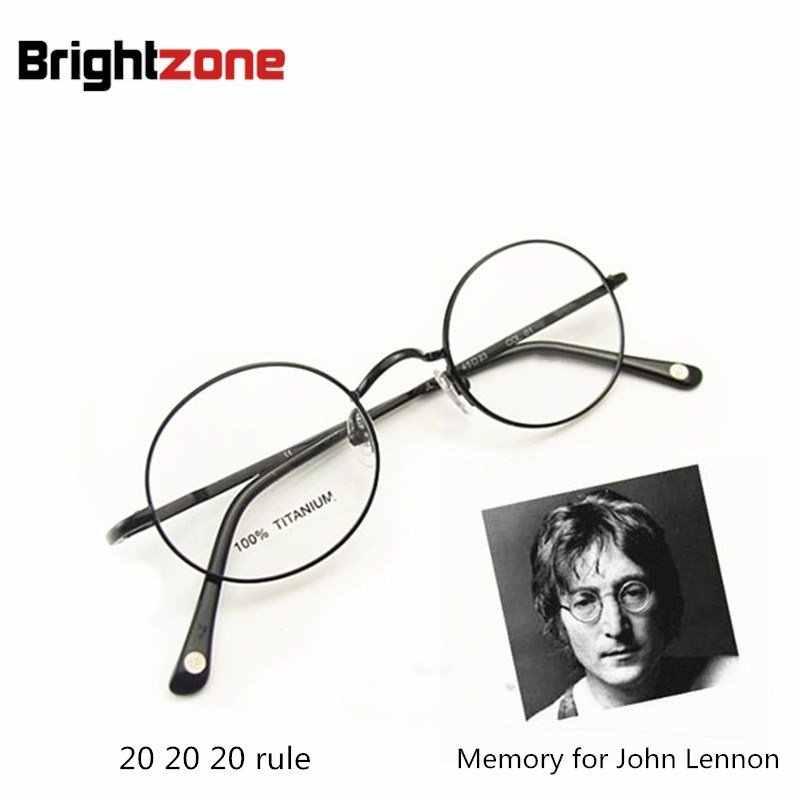 4368d8f38be ... Free Shipping Vintage Fullrim John Lennon Round Spring Hinge Pure  Titanium Eyeglasses Eye Glasses Frame Oculos ...