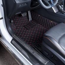 Auto Fußmatten Covers top grade anti-scratch feuer beständig langlebig wasserdicht 5D leder matte Für Mazda 3 Auto-Styling