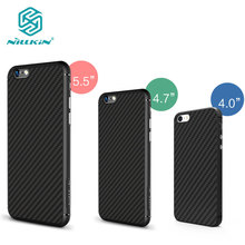 Nillkin synthetic fiber Cell phone case for apple phone 6 6Plus 6s 6s Plus Hard Carbon Fiber PP Plastic Back Cover Case