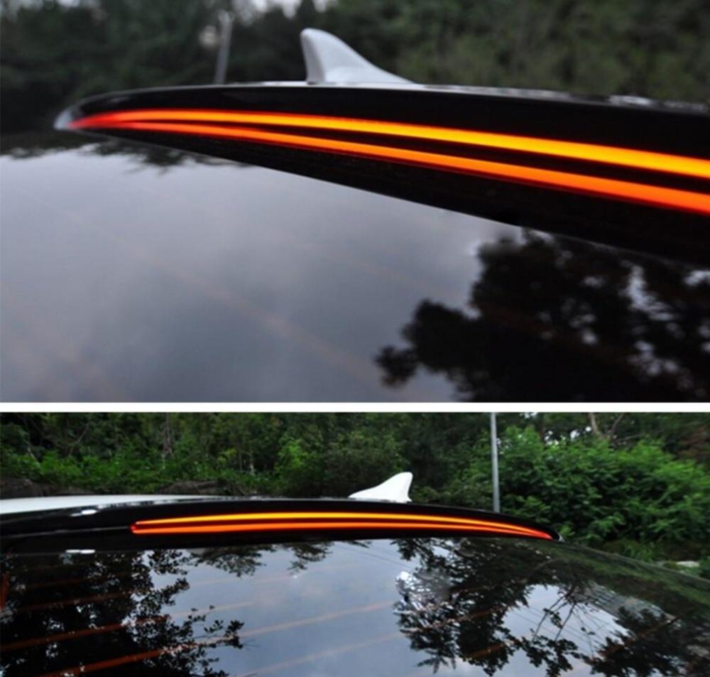 Pour Hyundai Sonata Voiture Décoration 2011 2012 2013 2014 2015 2016 2017 ABS En Plastique Peinture Peinture Couleur Coffre Arrière LED Spoiler - 4