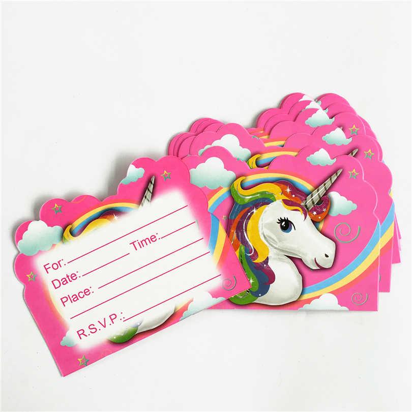 10pcs Child Kids Favors Happy 1st Birthday Party Unicorn