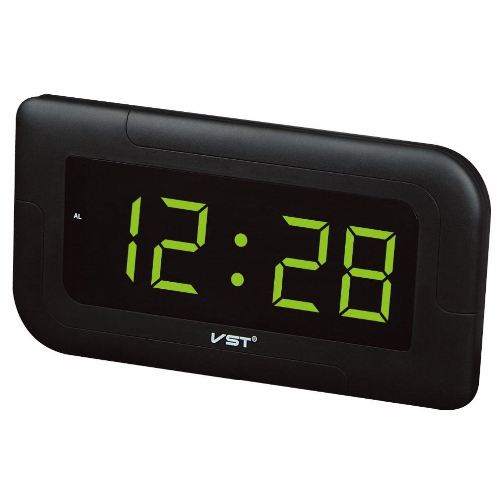 NOUVEAU! Grand écran LED numérique alarme horloge murale salon grand mur horloge nuit rougeoyante chiffres led horloge murale 24hrs affichage horloge