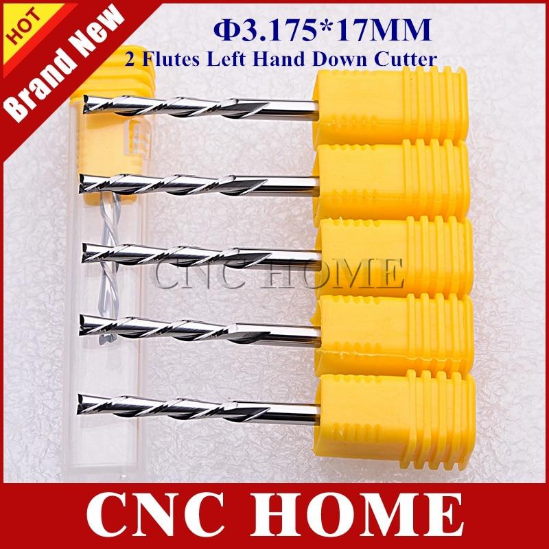 Quality Down CUTTER 3 175x17mm 2 Flute Carbide Spiral End Mill Tools Bits 10 pcs CNC