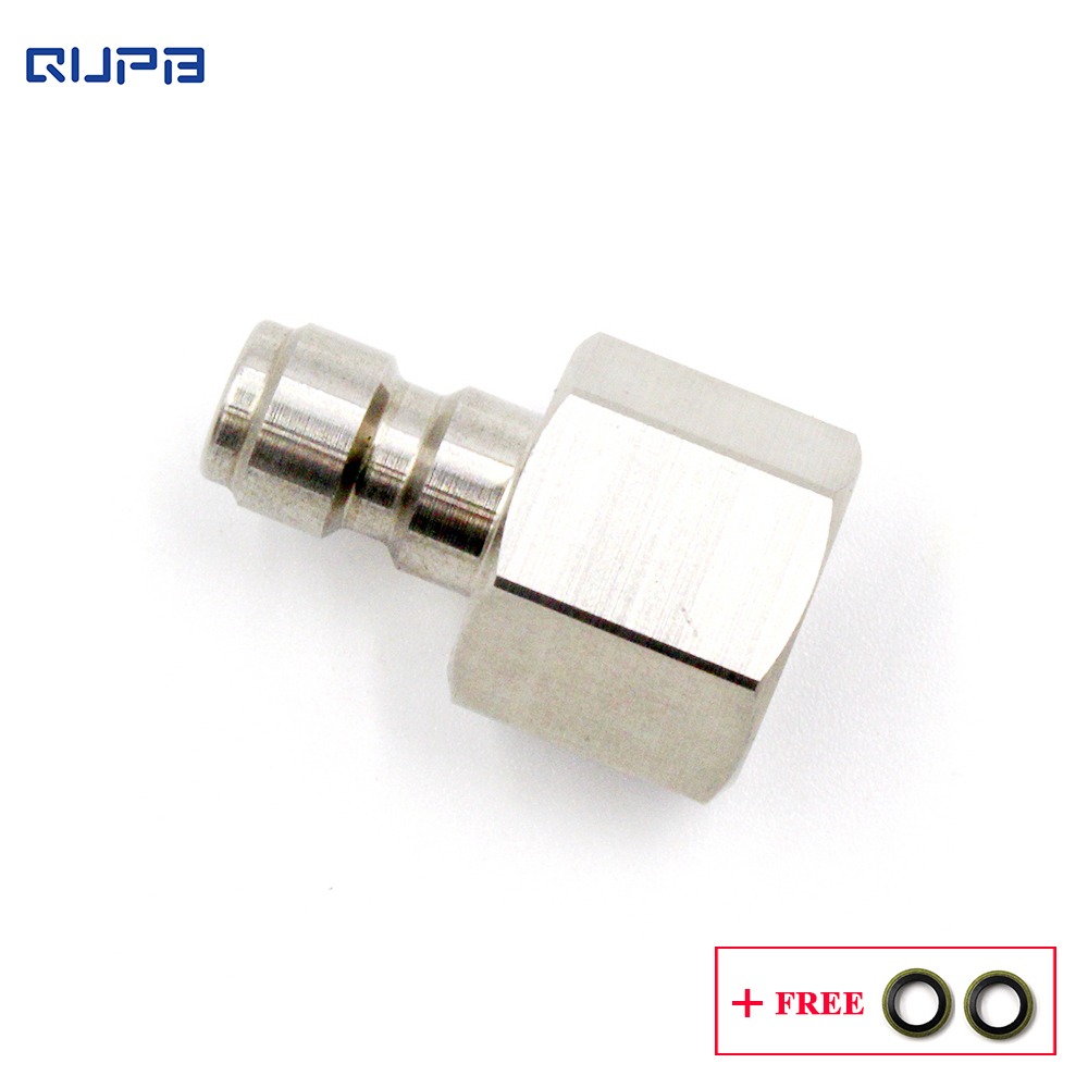 QUPB Airsoft Paintball Female Thread Quick Coupler Plug Stainless Steel 1/8 Inch NPT PTP002