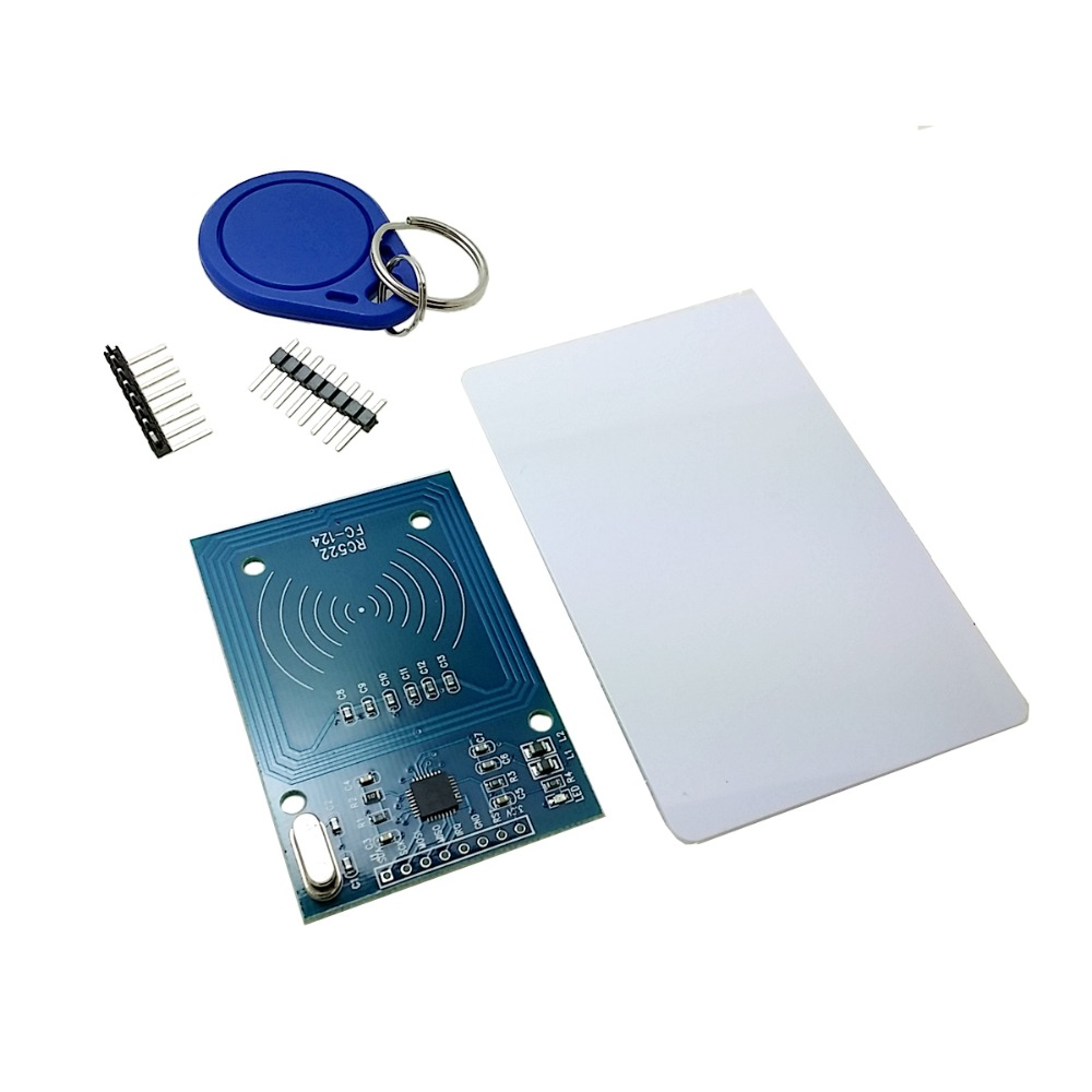 High Quality MFRC-522 RC522 RFID NFC Reader RF IC Card Inductive Sensor Module For Arduino Module + S50 NFC Card + NFC Key RingHigh Quality MFRC-522 RC522 RFID NFC Reader RF IC Card Inductive Sensor Module For Arduino Module + S50 NFC Card + NFC Key Ring