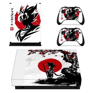 Vinyl Skin Decals Sticker Cover Xbox one x Dragon Ball Stickers Pegatinas Adesivo For xbox one x console and Two Controllers(China)