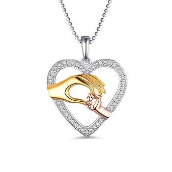 752eeddc8d0a AILIN nuevo diseño con la mano corazón Collar para mamá de regalo de  colgante de amor para la memoria especial regalo para la madre es día de la  joyería