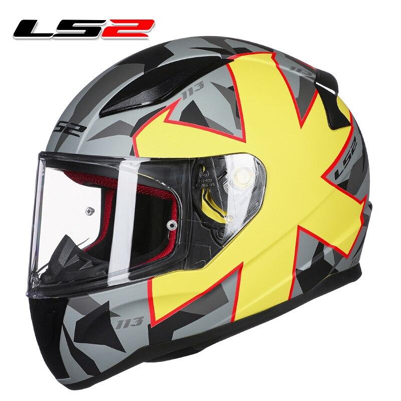 LS2 mode plein visage moto rcycle casque mat noir rapide moto racing casques ECE approuvé d'origine LS2 FF353 moto rbike casques