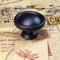 Dia.29mm Single Hole Zinc Alloy modern Knob Kitchen Furniture Handle bedroom drawer pulls black color