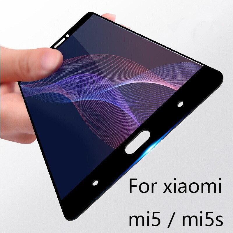 Galleria fotografica 9H Protective Full Cover Screen Protector For Xiaomi MI 5 5S Plus Tempered Glass For Xiaomi mi5 mi5s Plus Protector Glass Film