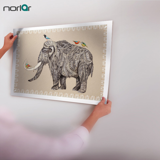Indian Animals Mammoth Elephant Art Print Poster Wall Pictures ...