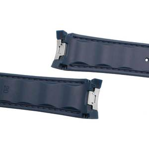 Image 4 - ソフトシリコン防水ゴムブレスレットのための適切な展開バックルリストストラップオメガ300 AT150 8900