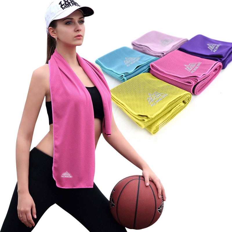 Sweat Towels Sign: Fashion Instant Cooling Ice Cold Towel Sports Gym Sweat