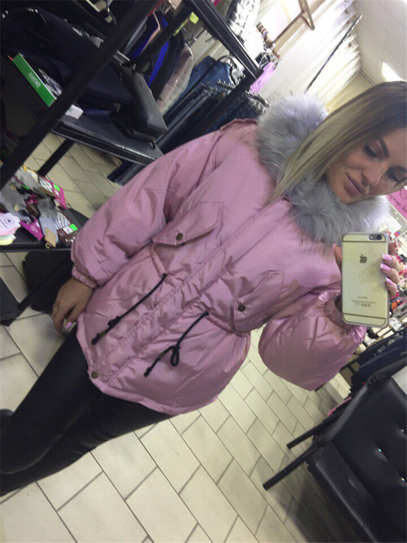 Womens Winter Jackets And Coats Time-limited Polyester Long Women Winter Clothing Fashion Colored Cotton Collar Jacket 2017 Hot