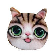 Famous Brand Women Wallet 2017 Dollar Price Cute Cat Face Zipper Coin Purse For Coins,Hot Sale Girls Children Wallet Bag bolsa(China)