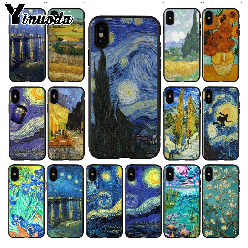 Lavaza Van Gogh Starry Sky Flower Soft Tpu Case Cover For Xiaomi Mi 6 8 A2 Lite 6 9 A1 Mix 2s Max 3 F1 Cases Making Things Convenient For Customers Fitted Cases