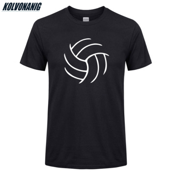 KOLVONANIG 2019 Summer Cool Volleyballer Funny Printed T Shirts Men Cotton Short Sleeve Fitness Mens Sportswear T-Shirt Tops