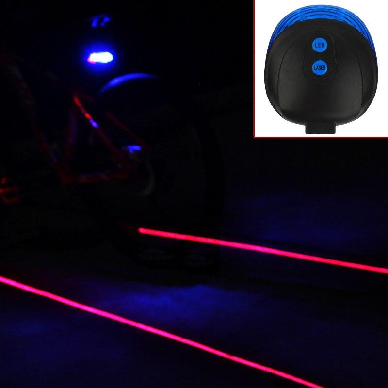 Éclairage de cyclisme de vélo à 2 lasers, 7 modes de Flash, lampe arrière de sécurité, lampe d'avertissement étanche, clignotant 5 LED 2 lasers