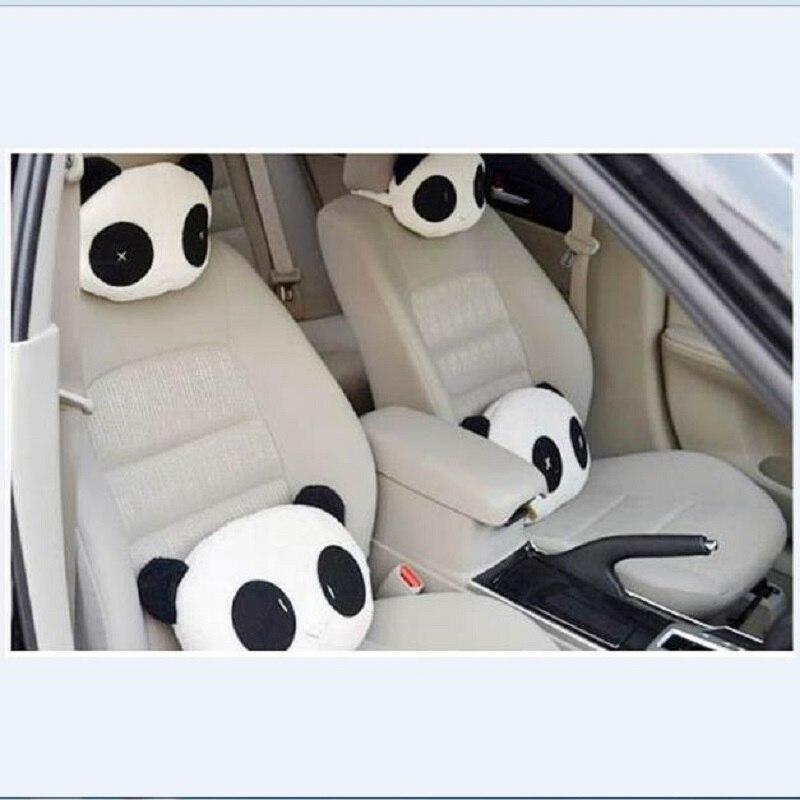 CHIZIYO 1Pc Universal Car Cute Panda Pattern Headrest Cushion Neck/Head Support Car Styling Car Seat Covers Accessories