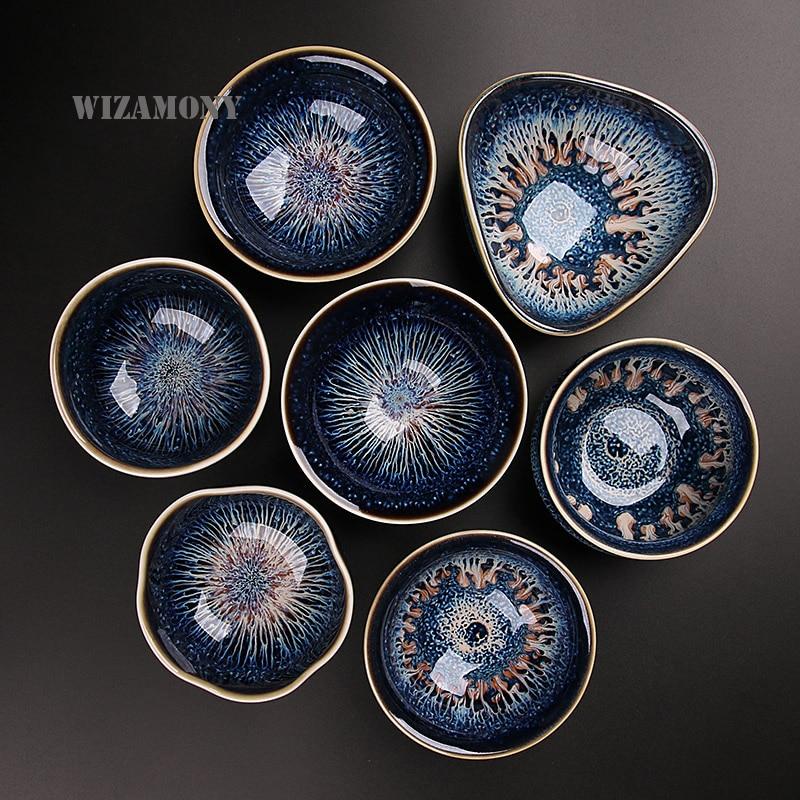 Heaven Eyes Glaze Porcelain Teacups 1