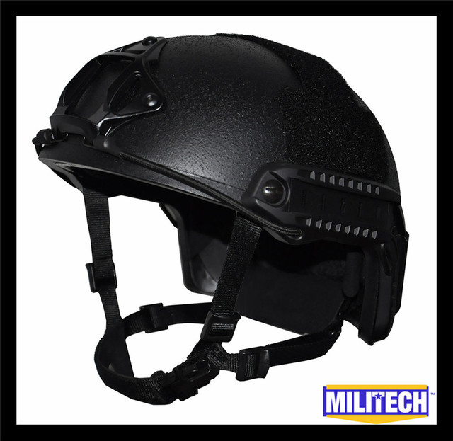 M/lg black marítima deluxe kevlar capacete à prova de balas nij nível iiia 3a rápido (com Relatório de Teste)/Ops Core RÁPIDO Ballistic Helmet