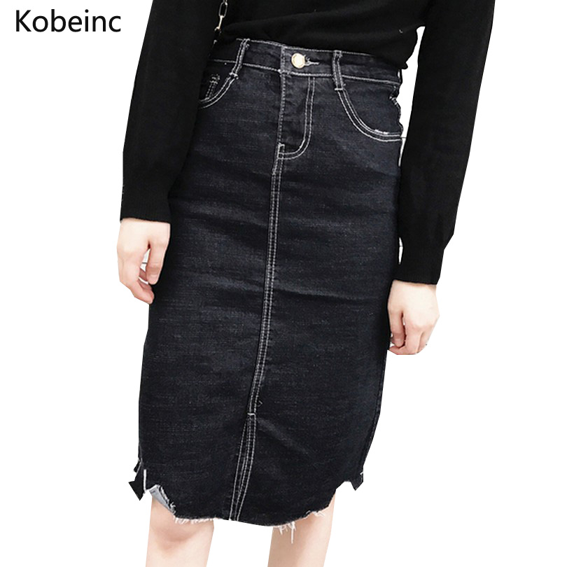 Compare Prices on Womens Denim Skirts Knee Length- Online Shopping ...