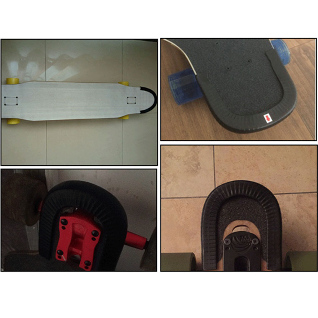 2 Pairs Durable Skateboard Longboard Deck Protection Strip Nose Tail Guard Rubber Strip Anti-Collision