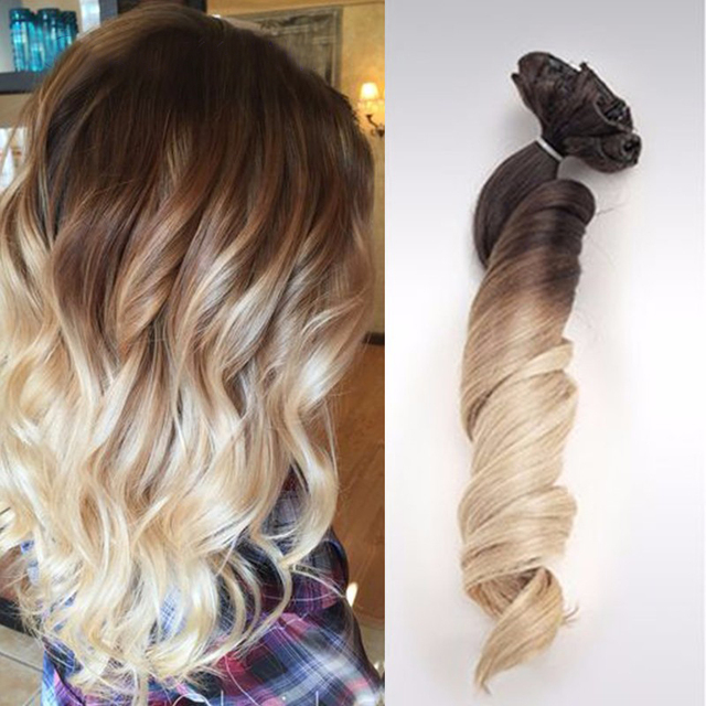 Bekend Clip ins 3/6/22 Bruin om As Blonde Ombre Balayage Braziliaanse  @TS99