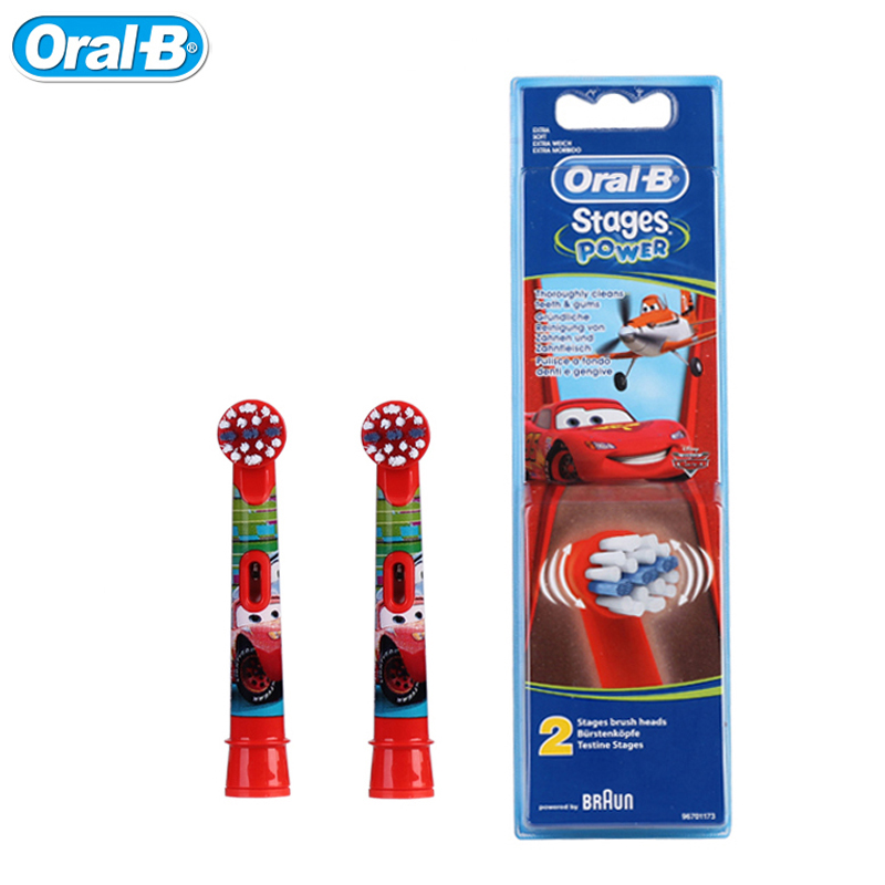 Oral B EB10-2K Children's Electric Toothbrush Heads Cars (2pcs=1pack) Boys Tooth Brush Heads Imported from Germany crest seven effect toothbrush buy 1 get 1 twin pcs pack crest america imported genuine special tooth brushes 20pcs 10packs