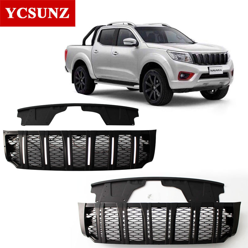 Front Grille For Nissan Navara 2018 Grills Vent Grid for Nissan Navara NP300 2015-2018 Raptor Grille Cover for Navara Ycsunz