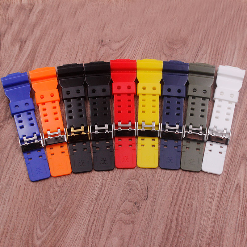Watch Accessories For Casio G-SHOCK GA GD GLS-100 110 120 Glossy Strap Men's Watch Strap