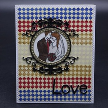 FeLicearts metal cutting love dies frame for DIY scrapbooking albulm photo decorative card making craft stamps