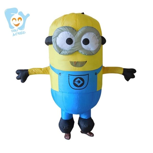 Famoso Minion Costumi Adulto Gonfiabile Halloween Cosplay Della Mascotte  HG96
