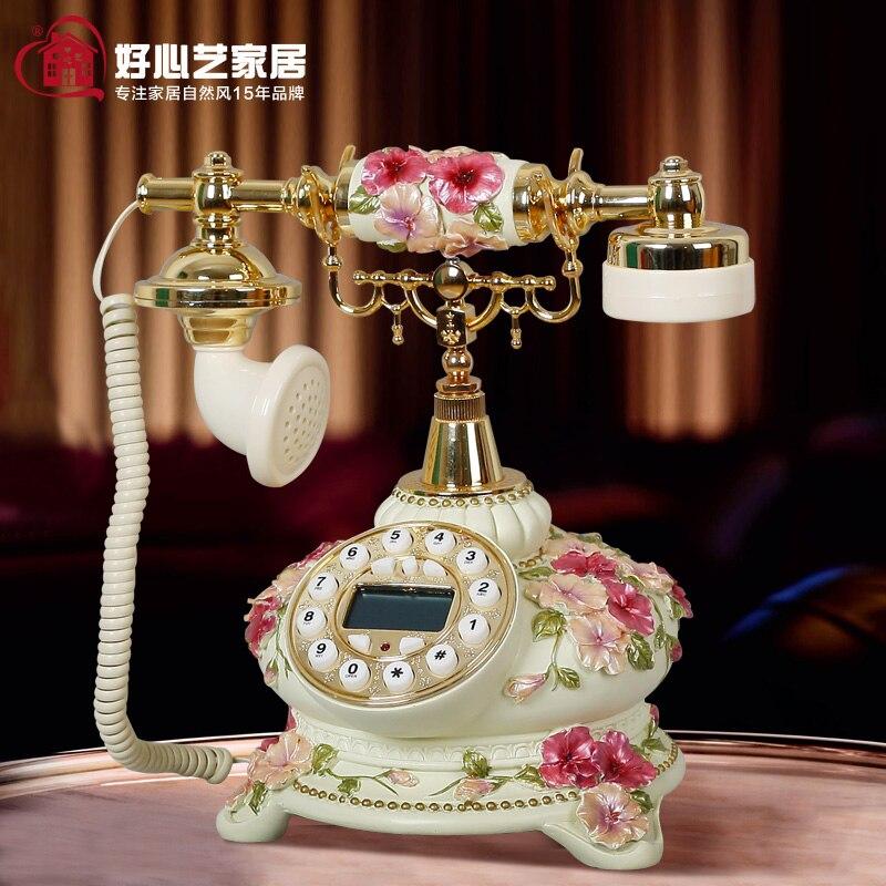 Хорошее искусство сад романтический Европейская мода ретро античный телефон стационарный телефон анютины глазки