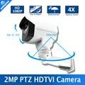 Full HD 1080 P 2MP Bullet 4X Zoom Óptico 2.8-12mm Lente Al Aire Libre Mini Bala TVI Cámara PTZ, 4 Unids Arsenal Led, 50 M IR PTZ Cámara TVI