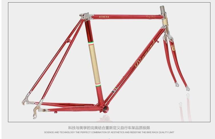reynolds 525 chrome molybdenum steel frame 700c road bike racing frame within the frame customize framevintage bicycle frame