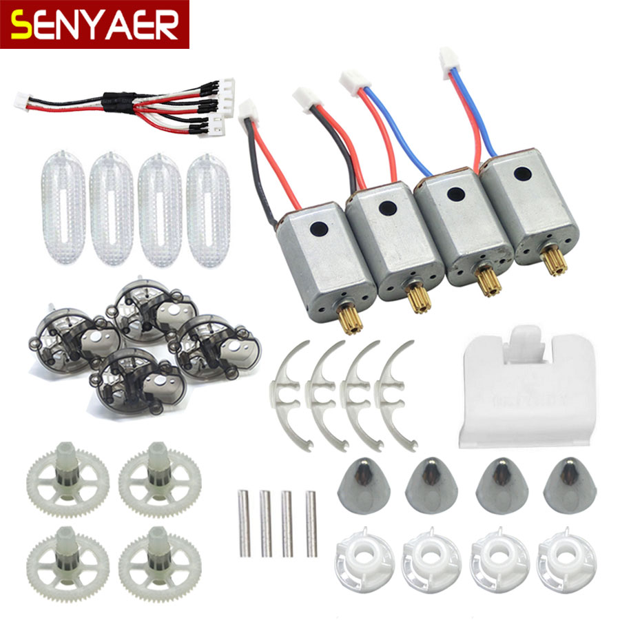 Original Syma X8W X8C X8G RC Drone Motor 2A+2B Engine + Quadcopter Accessories For X8HC X8HW X8HG Helicopter Spare Parts Motors