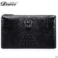 Diwei Real Crocodile Leather Men Bag Big Capacity Business Casual Bag Men Clutches Purse Quality Goods