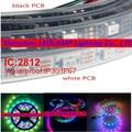 1m//5m WS2812B Smart RGB LED Pixel Strip Black/White PCB 30/60leds/m WS2812 IC ,WS2812B/M 30/60/144 pixels IP30 IP67 DC5V
