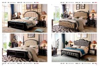 high quality Fashion European French Carved leather bed bedroom furniture 1.8 m zy0026