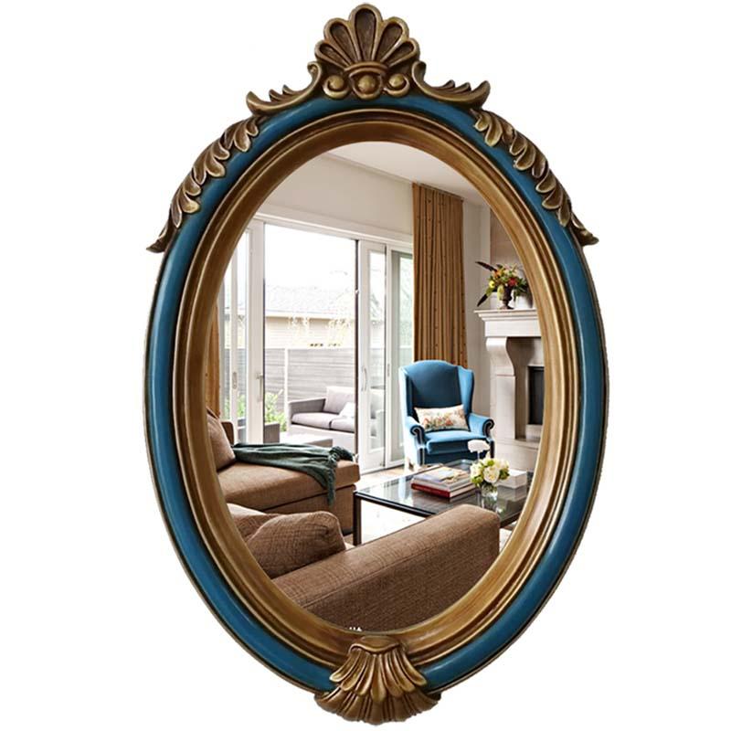 41cmx65cm American Wall Decoration Mirror European Antique Wall Hanging Bathroom Dressing Oval Mirror Bath Mirrors Aliexpress