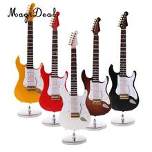 MagiDeal modelo de guitarra eléctrica de madera a escala 1/6, accesorio de figura de acción de 12 pulgadas, juguetes para niños